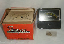 Simpson Frequency CPM Meter Gauge Vintage Great Condition