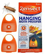 Zensect Hanging Moth Proofer Killer Protect Fabrics Cloth Lavender Scent 4 pcs!