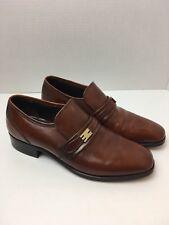 Nettleton Vintage Made in USA Men's Brown cognac Leather Slip on Shoe size 6