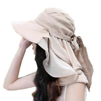 Women Ladies Large Wide Brim Cap Sun Protection Floppy Hat Cap Foldable Beach