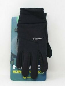 HEAD Men's Ultrafit Touchscreen Running Gloves in X-Large Black