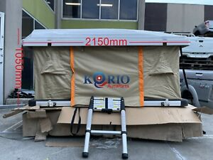 Hard Shell Foldable Roof Top Tent Camping Tent + Mattress For Camper Trailer 4WD