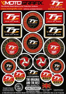 Isle of Man IOM TT Races 3D Gel Badge Set Motorbike Motografix Tankpad Protector