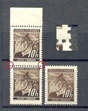 Böhmen & Mähren Nr.21**schwarzbraun Paar mit breiten Zahn(B6)