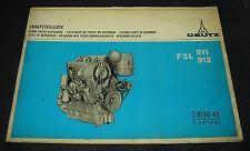 Ersatzteilliste Deutz Diesel Motor F3L 911 912 Spare Parts Catalogue 10/1970