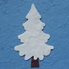 PACK 5 WHITE CHRISTMAS TREE  EMBELLISHMENTS FOR CARDS & CRAFTS