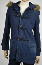 Ralph Lauren Hooded Denim Toggle Duffle Coat Jacket w/Removable Liner NWT XS