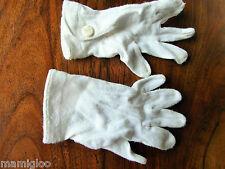 vintage gant jersey COTON blanc enfant  pression☺old glove