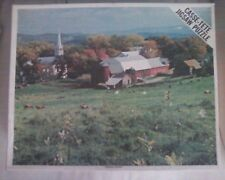 "Rare 1960s Whitman Limited Jigsaw Puzzle - Peacham, Vermont 22"" x 28"" (1200 pc)"