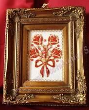 flowers, art, sculpture 2d natural red coral mediterranean, quadri corallo