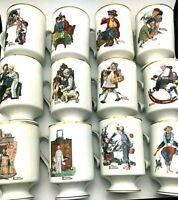 New (U PICK) 1981 Norman Rockwell Cups Mugs Porcelain Danbury Mint Gold Trim