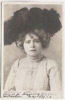 MABEL LOVE - Actress - 1904 used Edwardian real photo postcard