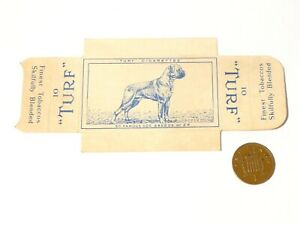 Original Carreras Turf Brand Card Famous Dog Breeds No. 24 Boxer w/ Tabs