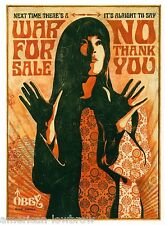 Obey Giant Shepard Fairey Poster Print War For Sale No Thank You Iraq War 7x10