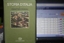 RUGGERO ROMANO, VIVANTI CORRADO (A CURA DI) STORIA D'ITALIA. I CARATTERI ORIGINA