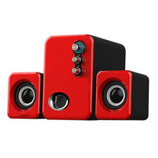 CASSE AUDIO PC 2.1 COMPUTER USB NOTEBOOK ALTOPARLANTI STEREO SUBWOOFER MP3 MP4