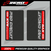 KYB UPPER FORK DECALS MOTOCROSS GRAPHICS MX GRAPHICS PROCIRCUIT CARBON RED