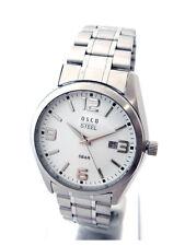OSCO Workline * Herren Armbanduhr Edelstahl weiß