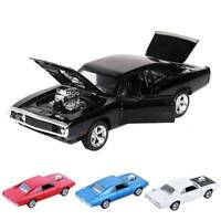 1:32 Dodge Charger Alloy Diecast Car Model Light & Sound Toy Vehicle Kids Gift