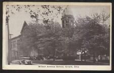 Postcard GIRARD Ohio/OH  Wilson Avenue School Campus Building view 1920's