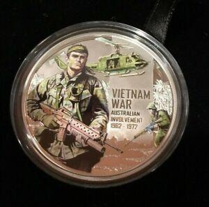 2012 $1 Vietnam War Australian Involvement 1/2oz Silver Proof Coin #2409