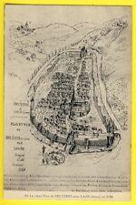 cpa Rare 02 - Vieux Plan de BRUÈRES à Côté de LAON BRUYÈRES sous LAON en 1584