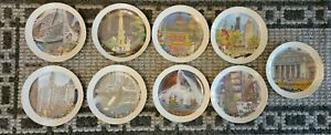 Chicago Collector Plates Set of 9 by Franklin McMahon
