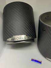 John Cooper Works MINI Matt Carbon Fibre Exhaust Tips - F54 F55 F56 F57 F60 PAIR