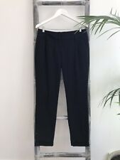 Cue Black Pleated Tapered-Leg Pants - Size 10