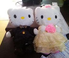 "Hello Kitty Couple Lover Wedding Dress Soft Plush Doll Toy 2PCS Big 12"" Gift"