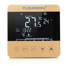 Floureon Electric Heating Thermostat LCD Temperature Controller HY08WE-3 Gold