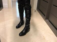 92a7d621bc7 over the knee leather boots size 36 1 2 made in italy coop barneys new