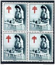 España 1953. Pro tuberculosos bloque de 4. Ed 1122. MNH. **.