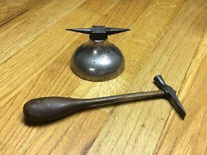 Rare Unique? 1800's Billings & Spencer Co. Jewelers Anvil & Acier Hammer Tool