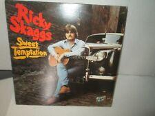 RICKY SKAGGS - SWEET TEMPTATION 1979 Vinyl Lp Country Hillbilly Sugar Hill VG+