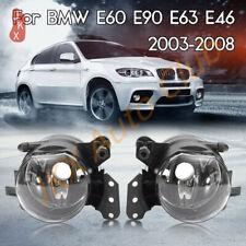 Set Fog Lights Clear Lens Lamps Housing o For BMW E60 E90 E63 E46 323i 325i 525i