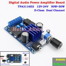 Digital Audio Power Amplifier Board Module TPA3116D2 DC 12V-24V 50W+50W D-Class