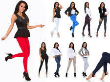 Women's Warm Thick Stretchy Stirrup Style Footless Leggings Pants Soft Nap LS