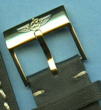 GOLD TONE BREITLING BUCKLE ONLY 18MM - NO STRAP