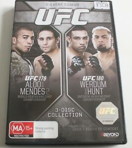 UFC #179 - Aldo Vs Mendes / UFC #180 Werdum Vs Hunt (DVD, 2015, 3-Disc Set)