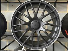 19inch MESH WHEELS & TYRES TO FITS FORD HOLDEN STAGGERED MATT BLACK XXR TOYOTA