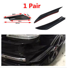 2PCS Car Front Bumper Splitter Body Side Wing Spoiler Lip Genuine Carbon Fiber