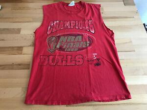 CHICAGO BULLS / NBA CHAMPIONS 1996 / Vintage T-Shirt Ärmellos / Jordan / Gr. M