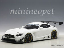 AUTOart 81531 MERCEDES BENZ AMG GT3 1/18 MODEL PLAIN COLOR VERSION MATTE WHITE