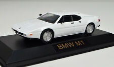 BMW M1 Scale 1:43 White in Display Case from Atlas die-cast