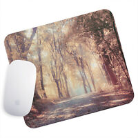 UK Seller Anti-Slip Gaming Mouse Pad Mat PC Laptop Retro Autumn Orange Forest