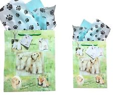 New Soft Coated Wheaton Terrier Gift Bags Set of Two with Tissue Paper Terriers