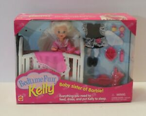 1995 KELLY BEDTIME FUN, SISTER OF BARBIE, NRFB, #12489