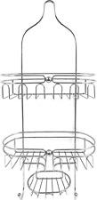 Stainless Steel Bathroom Tub & Shower Caddy, Hanging Storage Organizer  Chrome