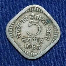India 5 Naye Paise 1963 coin